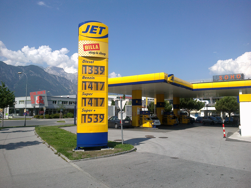jet tankstelle innsbruck innsbruck cityguide alles was du ber innsbruck wissen musst. Black Bedroom Furniture Sets. Home Design Ideas