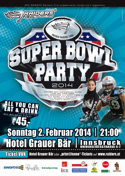 Superbowl Party Innsbruck