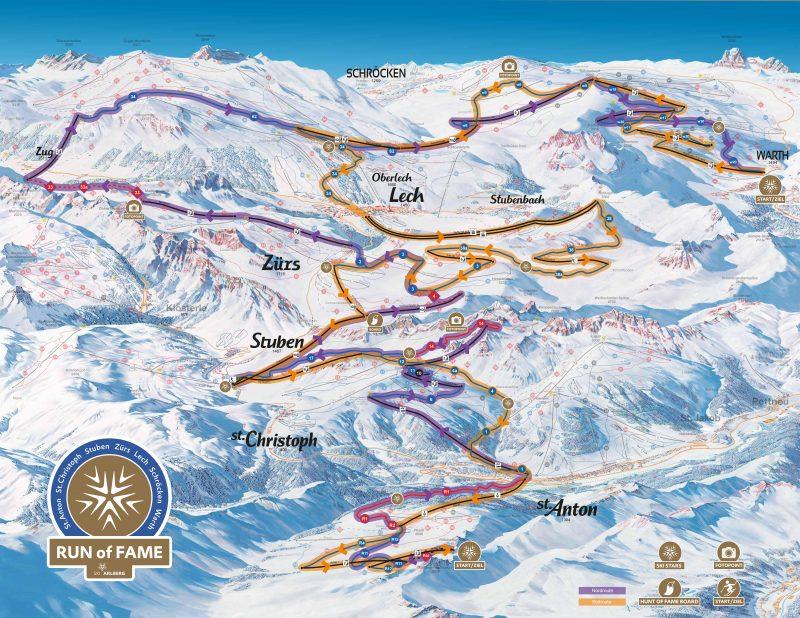 Ski Map St. Anton am Arlberg