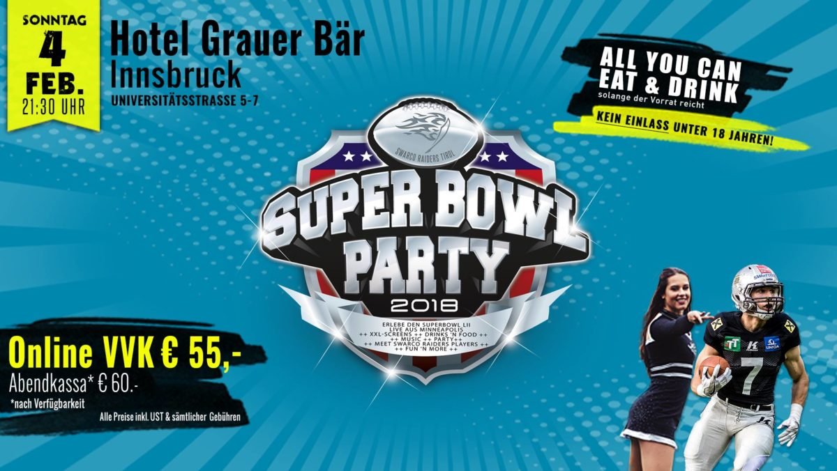 Superbowl Party Innsbruck 2018